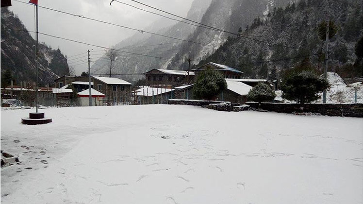 Snowfall in Managn