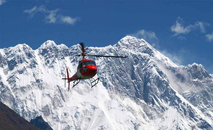 Helicopter tours in Nepal- Adventure Great Himalaya