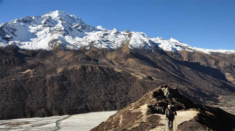 Trekking, Hiking to base camp of The world top Mountain